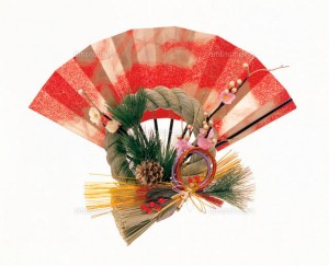 お正月飾り(扇)